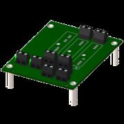8BP02 - Fond de Panier 2 emplacements pour modules 8B