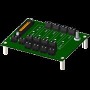 8BP04 - Fond de Panier 4 emplacements pour modules 8B
