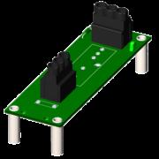 SCM7BP01 - Fond de panier monocanal avec des espaceurs pour le montage.