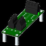SCM7BP02 - Fond de panier Deux canaux avec des espaceurs pour le montage.