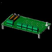 SCM7BP04 - Fond de panier quatre canaux avec des espaceurs pour le montage.