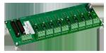 SCM7BP08 - Fond de panier eight canaux avec des espaceurs pour le montage.