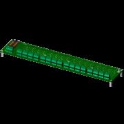 SCM7BP16 - Fond de panier seize canaux avec des espaceurs pour le montage.