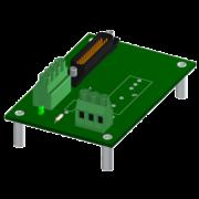 SCM7BXEV - Fond de panier 1 emplacement pour évaluation des modules SCM7B
