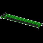 SCMPB01 - Panneau arrière à 16 canaux avec espaceurs pour le montage.