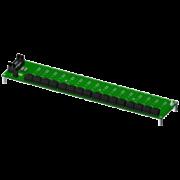 SCMPB02 - Panneau arrière à 16 canaux avec espaceurs pour le montage.