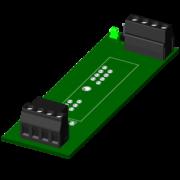 SCMPB03 - Panneau arrière à 1 canal, pas de kit de montage inclus