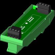 SCMPB03-2 - Panneau arrière monocanal avec matériel de montage sur rail DIN.Expédié entièrement assemblé