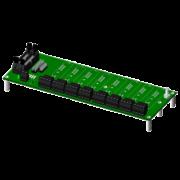 SCMPB05 - Panneau arrière à 8 canaux avec espaceurs pour le montage.