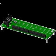 SCMPB06 - Panneau arrière à 8 canaux avec espaceurs pour le montage, multiplexé