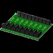 SCMPB07 - Panneau arrière à 8 canaux avec espaceurs pour le montage, haute densité